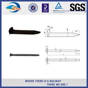ISO Certificate Railroad Track Spikes / Rail Dog Spike For Timber Sleeper