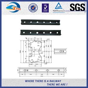 Standard UIC54 Rail Metal Fish Plate For Railway Fastener / Joggled Fish Plate