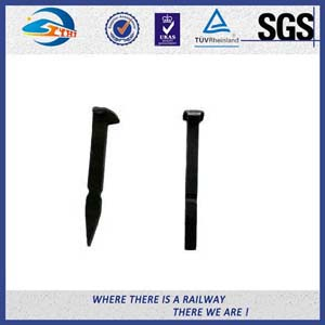 Low Carbon Steel Black Oxide Track Spike Fastening Wooden Sleeper Ss-EN10025