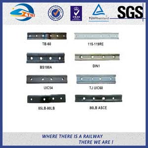 Track Railway Fish Plate Plain / Oxide Black for Standard Steel Rail