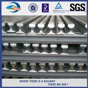 Heavy Plain Steel Crane Rail With Precision rolling Raw material