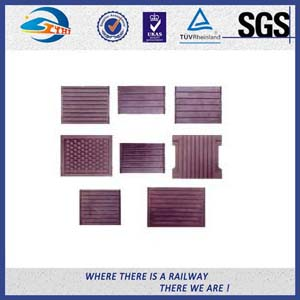 Durable Rubber Pads for Steel Tracks / Black Color Rail Base Part