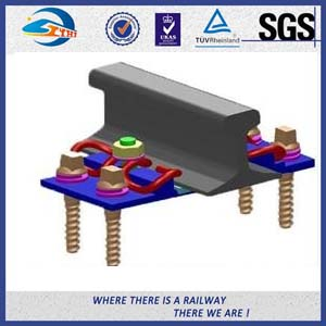 SKL12 Rail Fastening System With Screw Spike Plastic Dowel Elastic Clip Rubber Pad Guide Plate